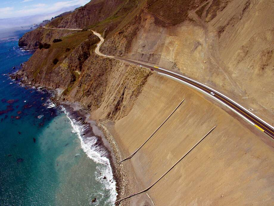 FILE -- The Highway 1 road at Mud Creek, Calif., on July 18, 2018. Photo: Santiago Mejia, The Chronicle