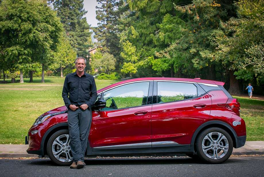 David Hochschild of Berkeley drives a 2017 Chevy Bolt Photo: Photos By Brian Feulner