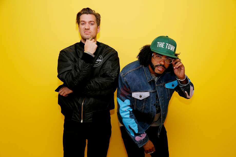 "FILE - Rafael Casal (left) and Daveed Diggs of ""Blindspotting"" pose for a photo at the Oakland Museum on Thursday, June 21, 2018, in Oakland, Calif. Casal was interviewed by the Berkeleyside podcast on Tuesday, which details the origins of Bay Area slang and how it's manifesting today. Photo: Santiago Mejia, The Chronicle"