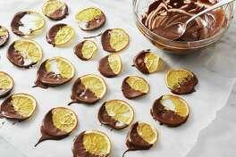 Chocolate-Dipped Orange Crisps.