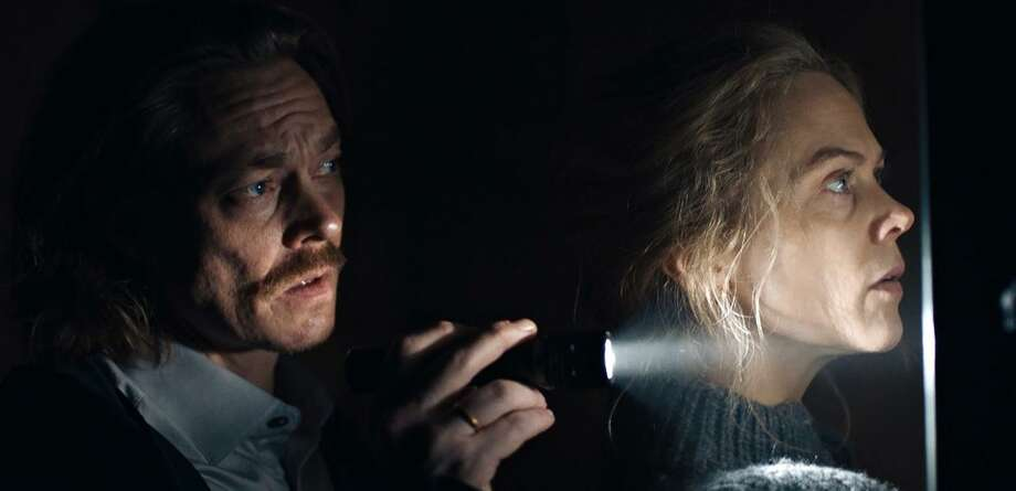 "Krostoffer Joner (left) and Ane Dahl Torp star in the Norwegian earthquake drama ""The Quake."" Photo: Magnolia Pictures"