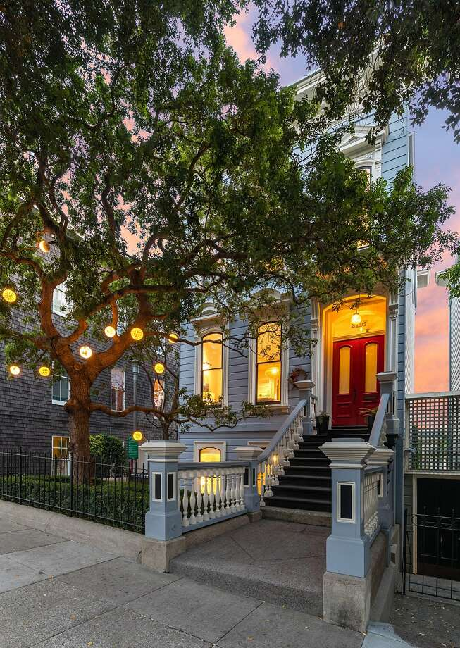 2115 Bush St. in Lower Pacific Heights is a four-bedroom, four-and-a-half bathroom Victorian available for $5.25 million. Photo: Steph Dewey / Reflex Imaging