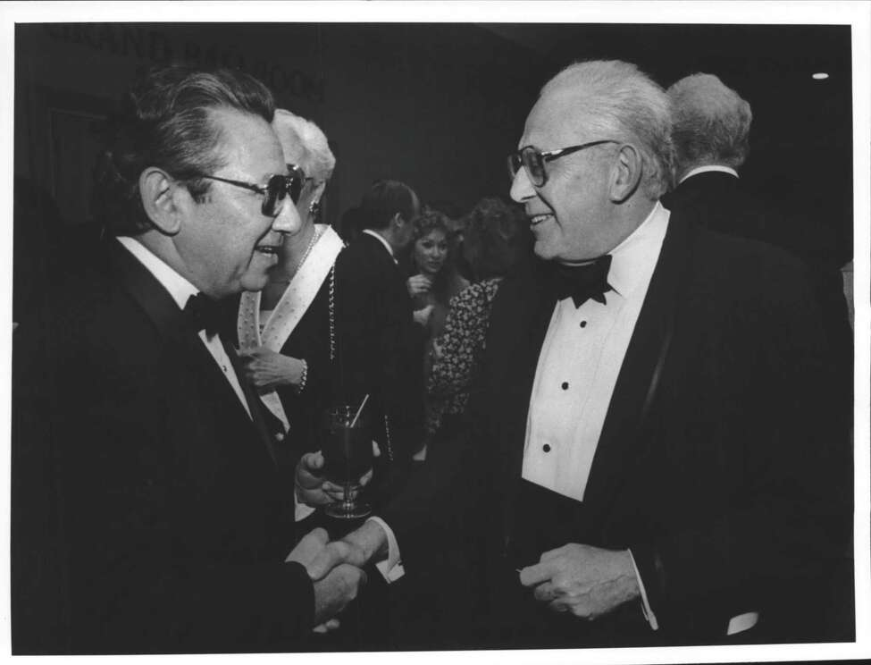 Lewis Golub & Harry Rosenfeld in Albany, New York. May 18, 1992 (Steve Jacobs/Times Union Archive)