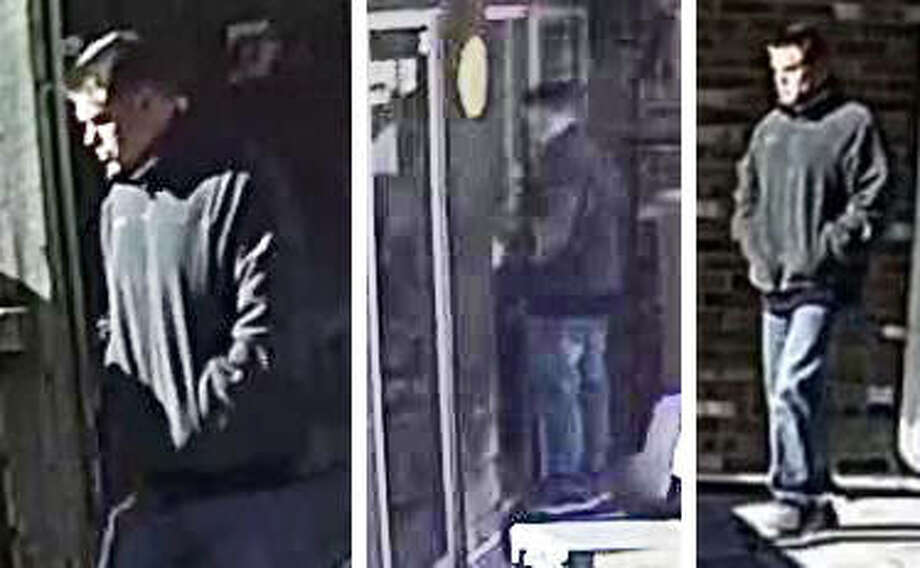 Video surveillance footage shows an unidentified man attempting to enter a Wood River residence on Wednesday.