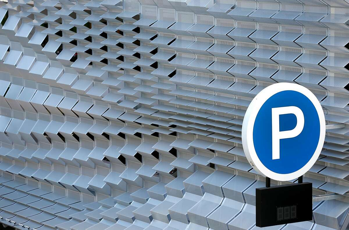 A perforated steel skin covers the Center Street garage in Berkeley, Calif. on Thursday, Dec. 13, 2018.