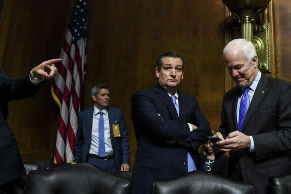 A reader says hopes that Sens. John Cornyn, right, and Ted Cruz, center, will implore President Donald Trump on DACA are misplaced.