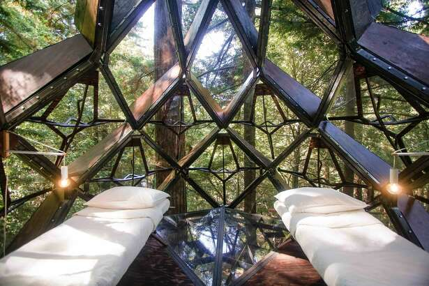 The Oakland-based company o2 Treehouse is selling a pinecone-shaped treehouse for approximately $150,000.