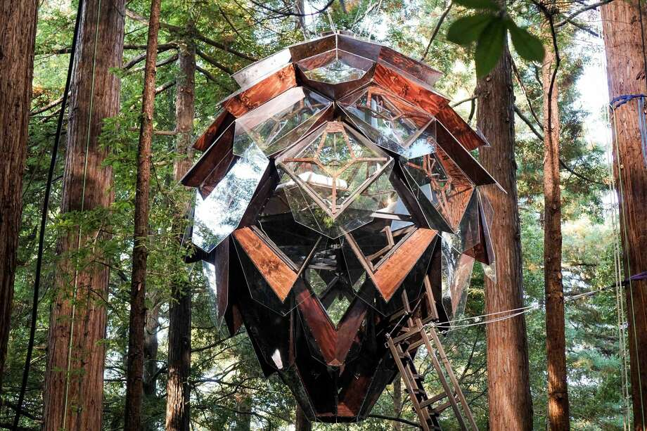 The Oakland-based company o2 Treehouse is selling a pinecone-shaped treehouse for approximately $150,000. Photo: Garna Raditya