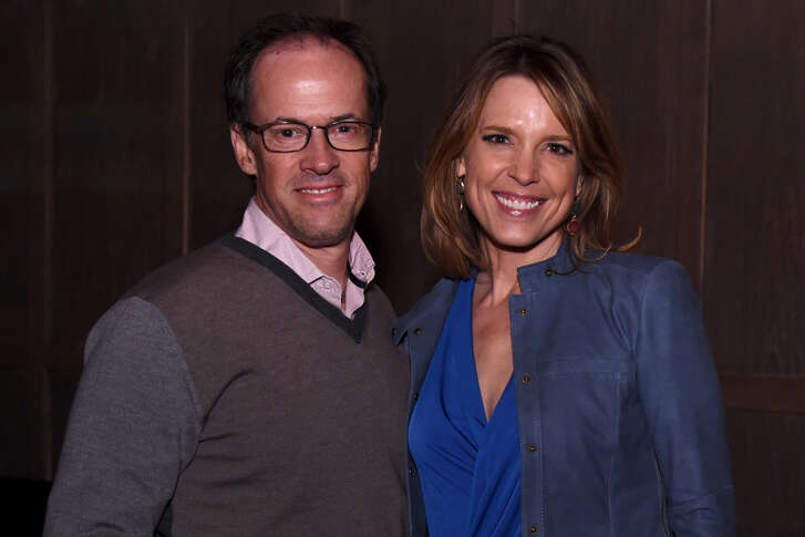 Hannah Storm (right) said she got invaluable counsel from husband Dan Hicks during her first season doing play-by-play on Amazon's Thursday Night Football stream.