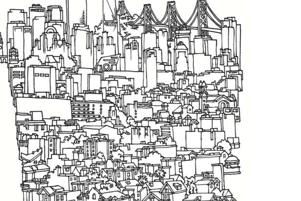 """Local artist Amos Goldbaum has released a book of his artwork, """"San Francisco and Other Drawings."""""""