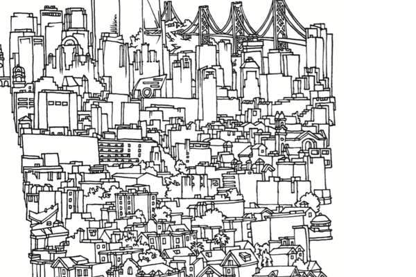 "Local artist Amos Goldbaum has released a book of his artwork, ""San Francisco and Other Drawings."""