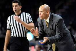 Siena head coach Jamion Christian instructs his players against Colgate during an NCAA college basketball game Saturday, Nov. 24, 2018, in Albany, N.Y. (Hans Pennink / Special to the Times Union)