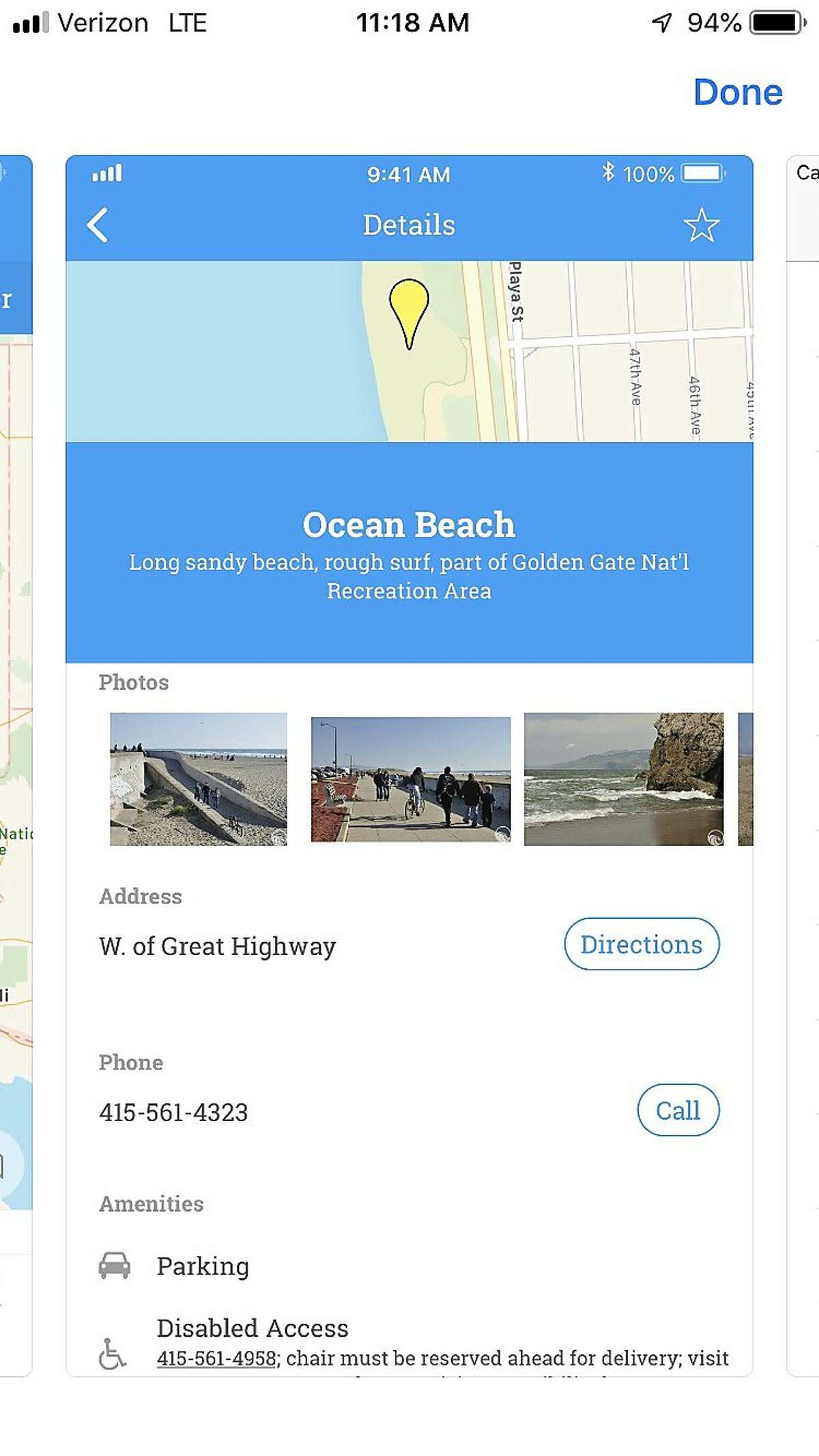 The YourCoast app, offered for IOS devices from Apple's App Store, is an app that was developed as a condition of Sean Parker's punishment for running afoul of the California Coastal Commission following his unpermitted multi-million wedding in the redwoods of Big Sur in 2013. The app is a mobile version of the Commission's YourCoast website, which provides information about California's 1,563 beaches.