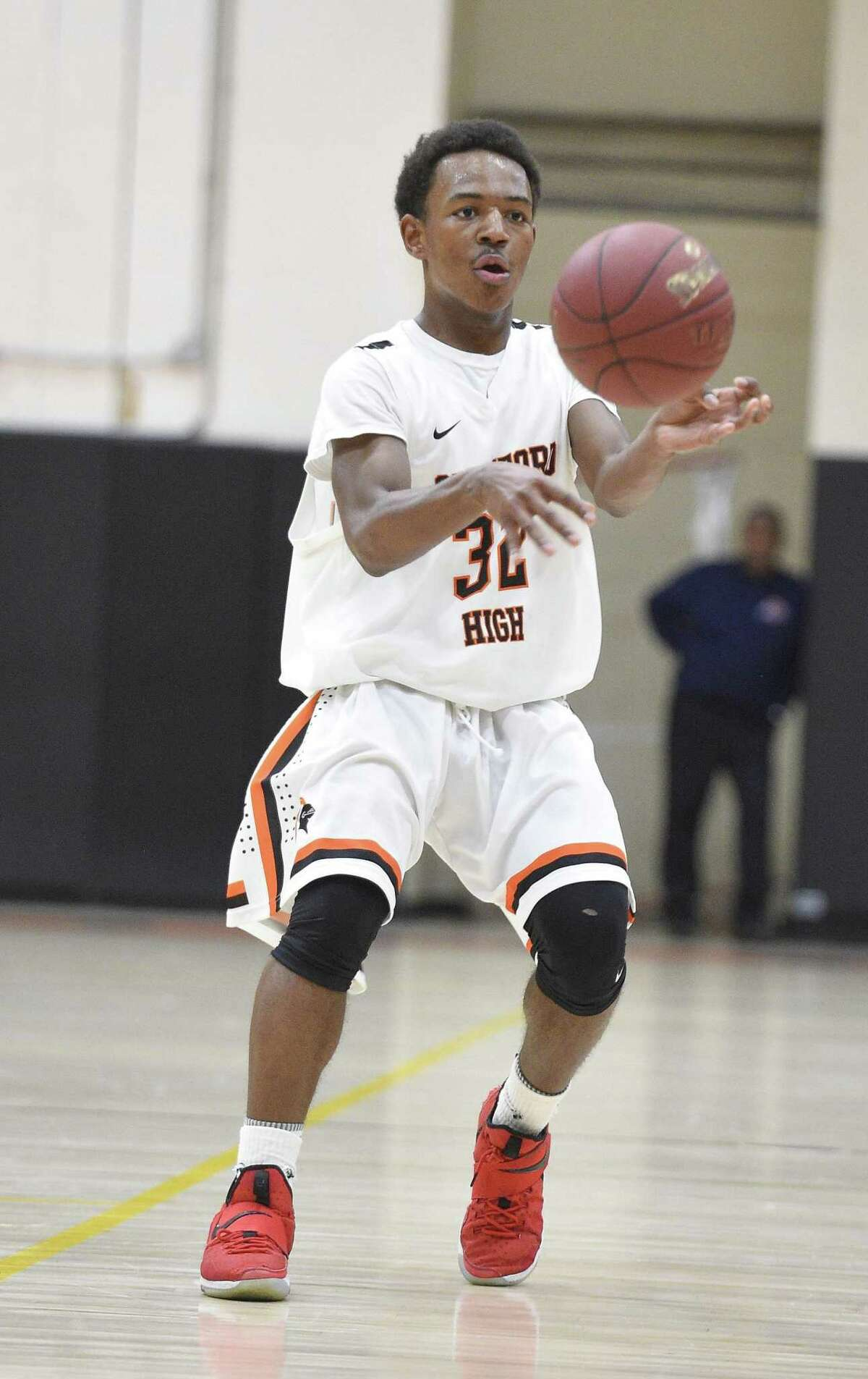 Jaden Bell Stamford defeats Naugatuck 65-57 in a First Round game of the CIAC Division II Boys Basketball Tournament at Stamford High School on Tuesday, March 6, 2018 in Stamford, Connecticut.