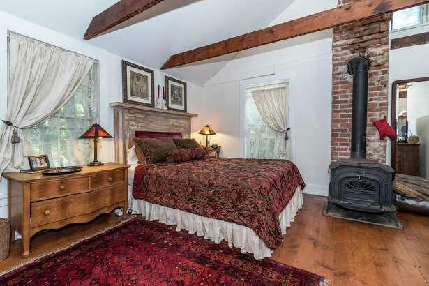 The master bedroom of the house at 39 Cross Highway in Westport.
