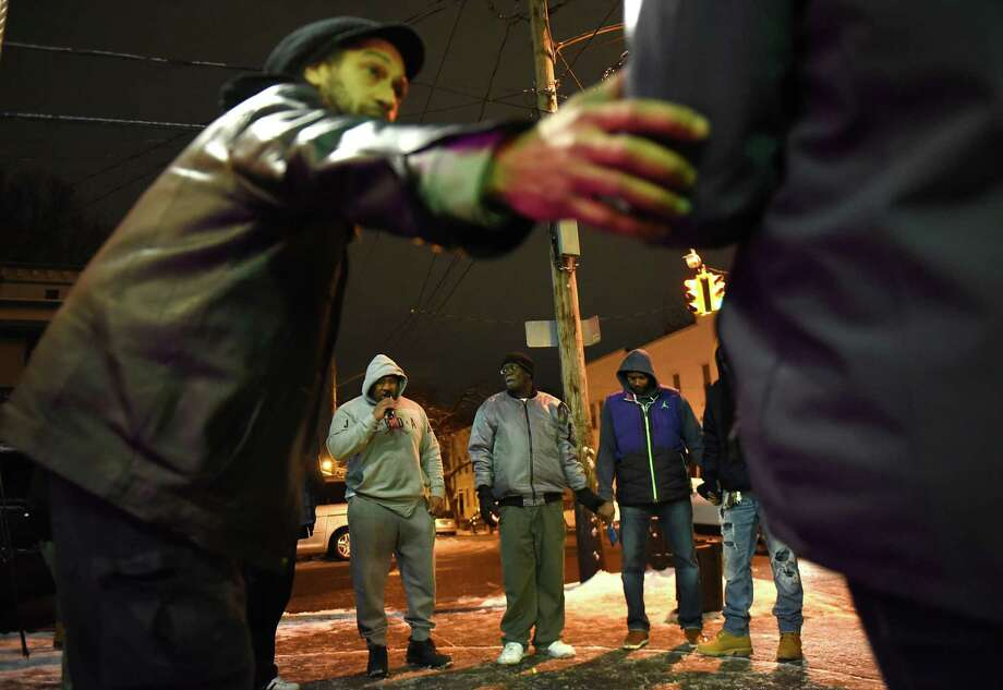 Trinity Alliance holds a shooting response at the site of Monday's homicide on Thursday, Dec. 13, 2018 in Albany, N.Y. (Lori Van Buren/Times Union) Photo: Lori Van Buren, Albany Times Union / 20045731A