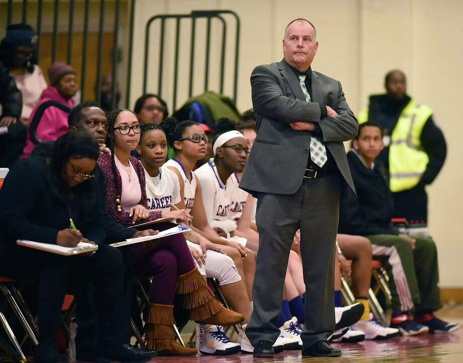 Career girls basketball coach Steve Bethke confirmed that he has not been allowed to coach the team since the start of preseason practice last month. Photo: Catherine Avalone / Hearst Connecticut Media File Photo / New Haven Register