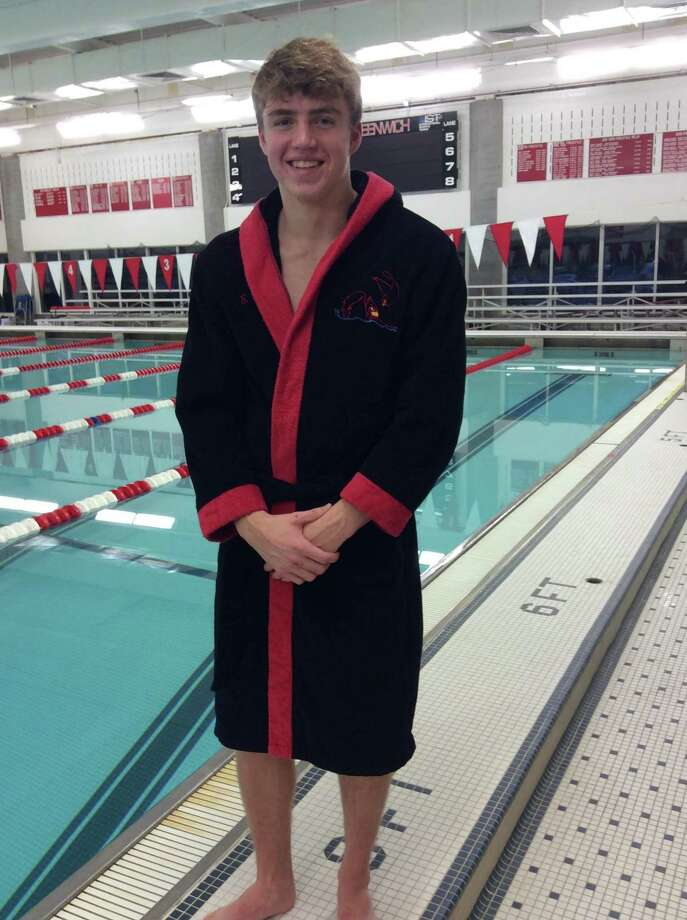 Junior Charlie Clark is one of the captains of the Greenwich High School boys swimming team, which won the State Open, Class LL and FCIAC titles last season. Photo: David Fierro / Hearst Connecticut Media / Greenwich Time Contributed