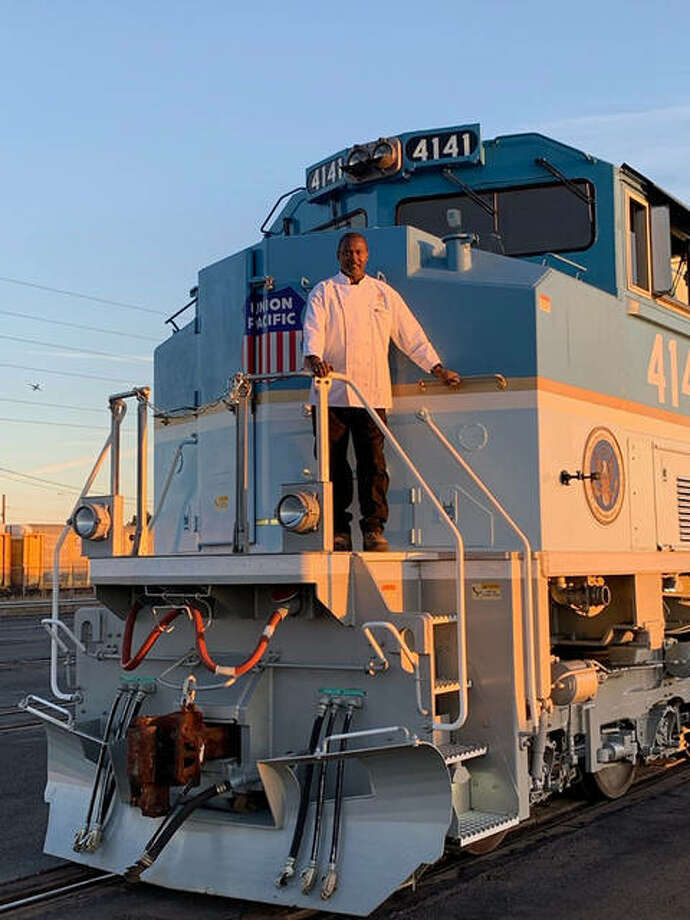 Kevin Mosby, an Edwardsville High School graduate and executive chef for the Union Pacific Railroad, and his kitchen staff were recently selected to making lunch for President George H.W. Bush's family and attending Secret Service agents Thursday. Photo: Submitted Photo
