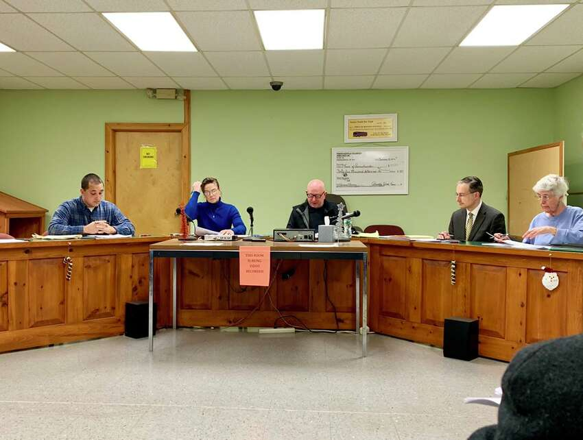 The Rensselaerville Town Board discusses the town supervisor's resignation on Dec. 13, 2018, during a regularly scheduled board meeting.