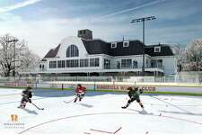 Architect's rendering of a proposed winter club on Peaceable Street in Ridgefield.