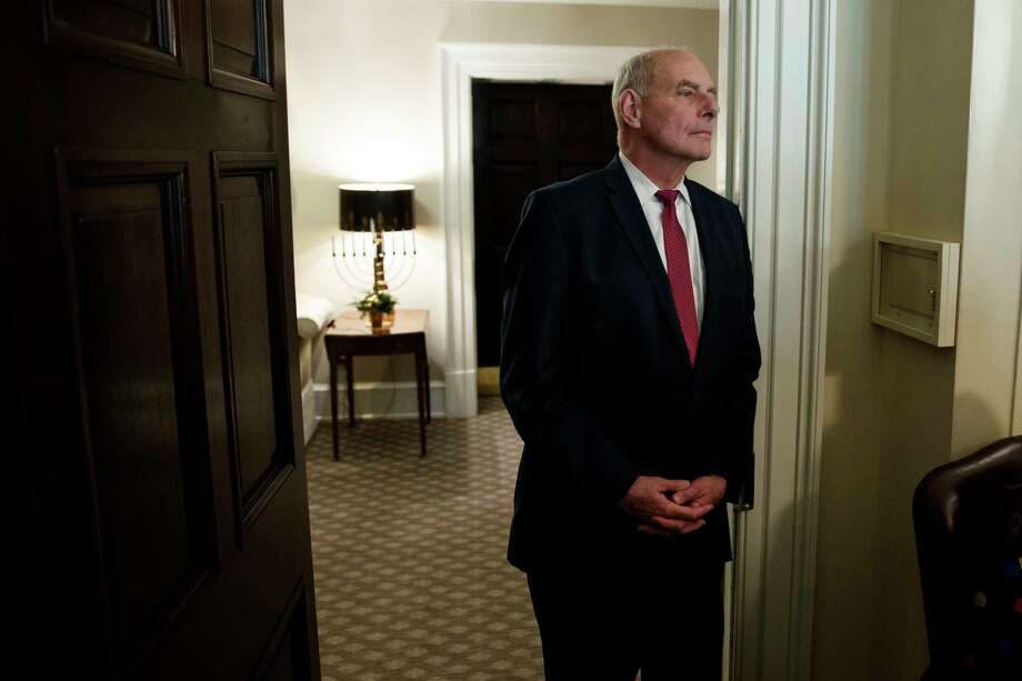 White House Chief of Staff John Kelly listens as President Donald Trump speaks during a meeting with newly elected governors in the Cabinet Room of the White House, Thursday, Dec. 13, 2018, in Washington. Photo: Evan Vucci, AP / Copyright 2018 The Associated Press. All rights reserved.