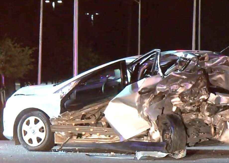 A major crash occurred on FM 1960 and Townsen on Thursday, Dec. 13, 2018. Photo: Metro Video