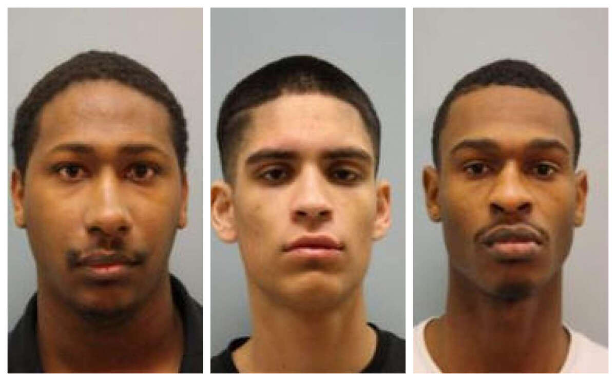 Spring murders (L-R) Aakiel Kendrick, Erick Peralta, Khari Ty Kendrick were charged with murder in the Spring Killings, January 2018.
