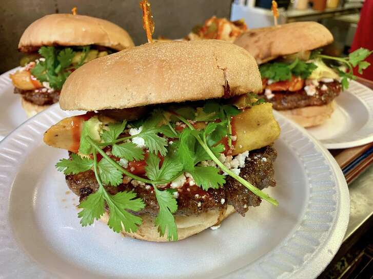 The tamale burger is available at Hubcap Grill locations through Dec. 30.