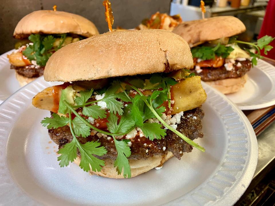 From tamales to Flamin' Hot Cheetos, sink your teeth into these insane burgers