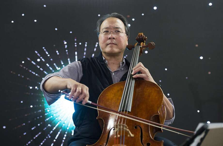 Cellist Yo-Yo Ma performs at a subway station in Montreal, Saturday, Dec. 8, 2018. (Graham Hughes/The Canadian Press via AP) Photo: Graham Hughes, Associated Press