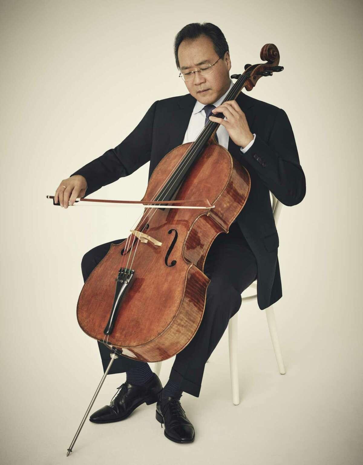 Cellist Yo-Yo Ma will perform at Laurie Auditorium in April, courtesy of Arts San Antonio.