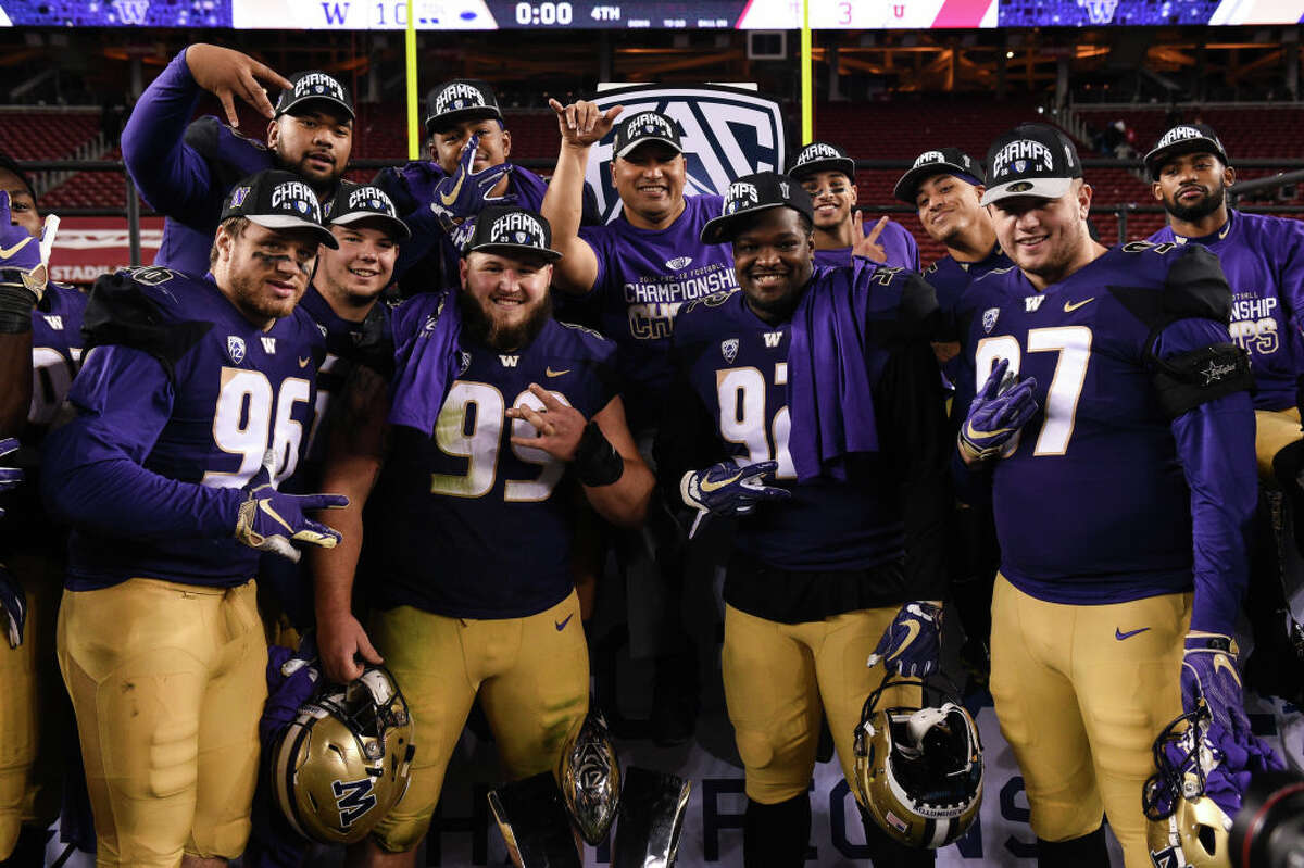 1. No. 9 Washington Huskies (10-3, 7-2 Pac-12) Look, the Huskies are not the most exciting team on the planet. They didn't win through a high-flying offense with 43 passing scores, like the 2016 season. They didn't beat the hated Ducks or win a big out of conference game, either. No, this year's squad won the conference through tough defense and a smash-mouth running game - proving that even in an age of high-scoring offenses, old-fashioned football can still get it done. They weren't perfect, but the Dawgs got it done when they needed to, crushing WSU's hopes in a snowy Apple Cup to end the regular season. Chris Petersen's coaching deserves to be commended as well: three one-score losses (to Auburn, Oregon and Cal) could've totally derailed the locker room and, by extension, the Dawgs' season. Instead, senior stars Jake Browning, Myles Gaskin and Ben Burr-Kirven will have a chance to end their collegiate careers with a Rose Bowl win. For a team that began the year with College Football Playoff hopes, that's not a bad way to finish.
