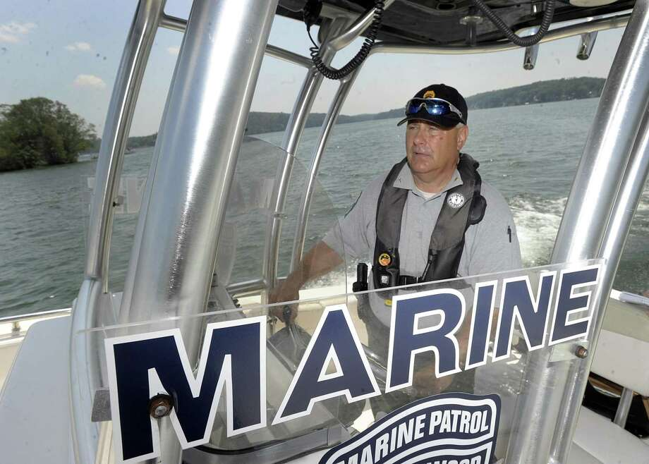 File photo of Chief Ron Barnard of the Candlewood Lake Authority Marine Patrol. Photo: Carol Kaliff / Hearst Connecticut Media / The News-Times