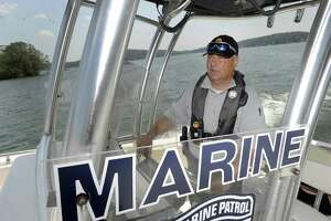 File photo of Chief Ron Barnard of the Candlewood Lake Authority Marine Patrol.