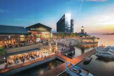 Conceptual rendering of MGM Bridgeport Resort Casino & Entertainment District.