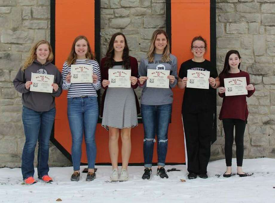These are the students recently named Ubly's students of the month. (Submitted Photo)