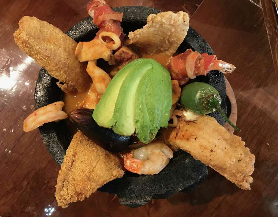 Seafood Molcajete at Hacienda Camila. Photo: Paul Stephen / Staff