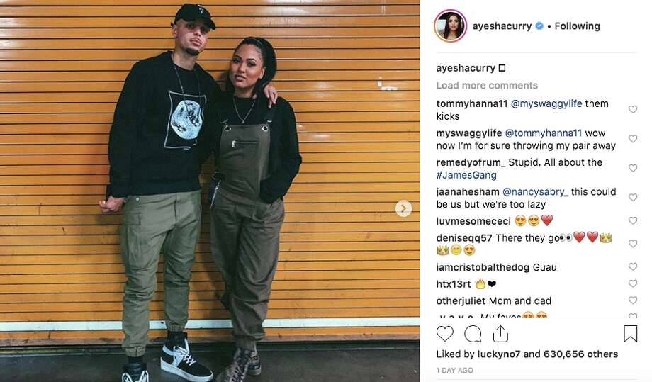 Stephen Curry continues to troll people over his moon landing comments. Photo: Ayesha Curry/Instagram