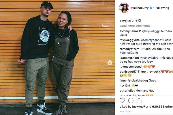 fead6475469 1of21Stephen Curry continues to troll people over his moon landing  comments.Photo  Ayesha Curry Instagram