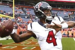 Over the Texans' previous five games, quarterback Deshaun Watson is averaging a pedestrian 224.4 passing yards.