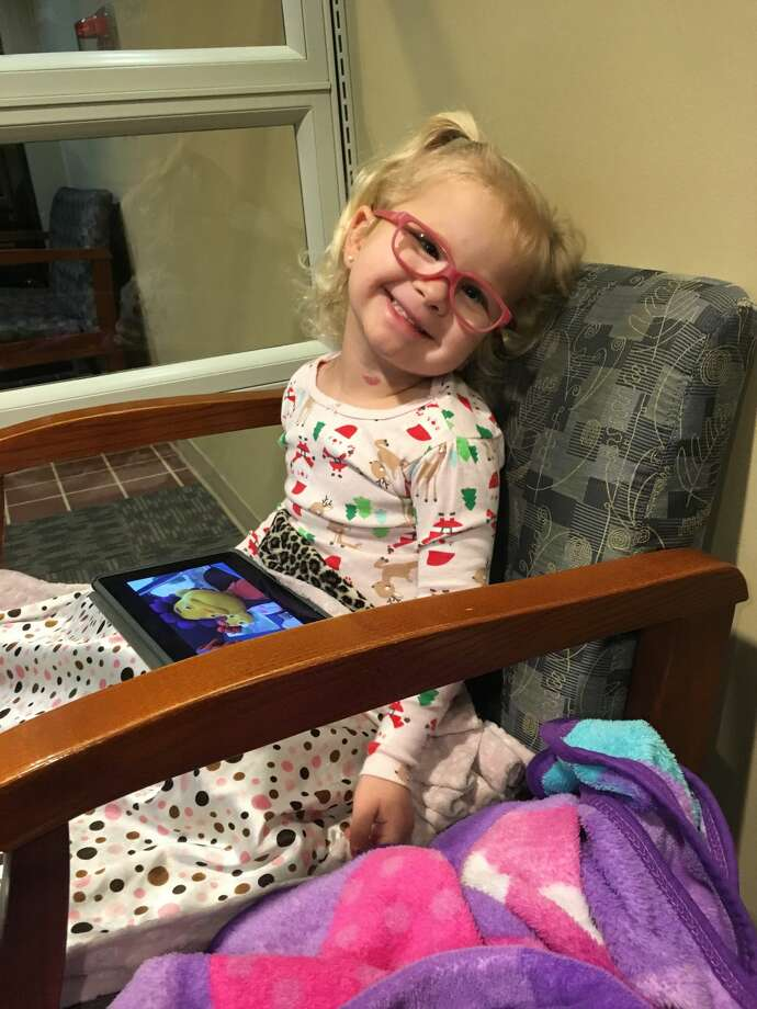 Ryder's daughter Reese had to undergo surgery for strabismus, an eye condition.  Photo: Courtesy Blake Ryder