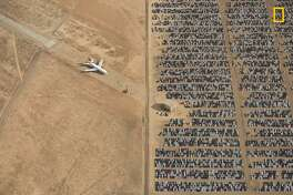 Winners of the 2018 National Geographic Photo Contest, Grand Prize Winner Thousands of Volkswagen and Audi cars sit idle in the middle of California's Mojave Desert. Models manufactured from 2009 to 2015 were designed to cheat emissions tests mandated by the U.S. Environmental Protection Agency. Following the scandal, Volkswagen recalled millions of cars. By capturing scenes like this one, I hope we will all become more conscious of and more caring toward our beautiful planet. Link: https://yourshot.nationalgeographic.com/photos/12295249 DO NOT USE