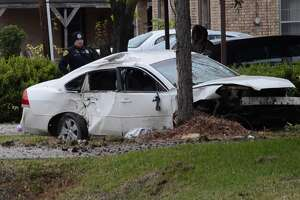 A driver is dead after losing control and slamming into a tree Friday in northeast Houston.