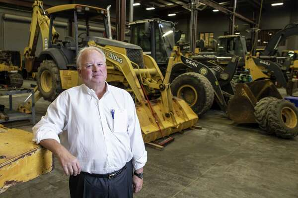 Doggett Industries CEO Leslie Doggett stands for a portrait in his heavy equipment facility Monday Oct. 15, 2018 in Houston.