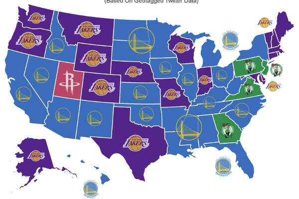 Nba America Map This map shows just how much America hates the Golden State