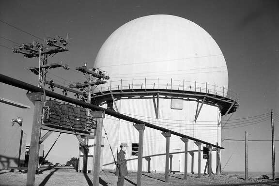 The U.S. Air Force Radar Station atop Mt Tamalpais, December 10, 1953