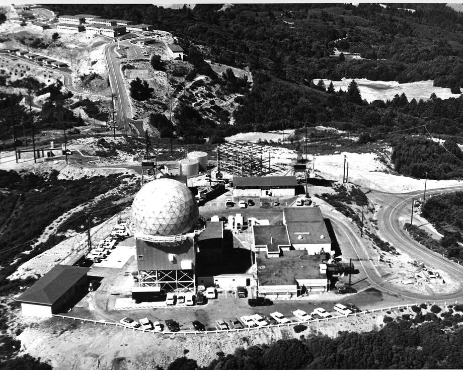 The U.S. Air Force Radar Station as seen from the air in 1963. Photo: Joint Office Of Information, Hamilton Air Force Base 1963