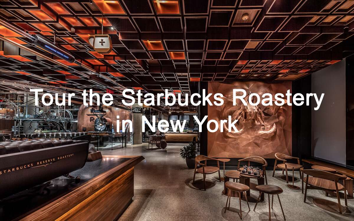 Click through the gallery to take a tour of the new Starbucks Reserve Roastery in New York's meatpacking district...
