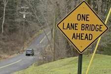 One lane bridge on Cherniske Road that New Milford proposes to make two lanes. Friday, December 14, 2018, in New Milford, Conn.